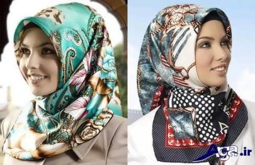 مدل گره زدن روسری شیک و زیبا