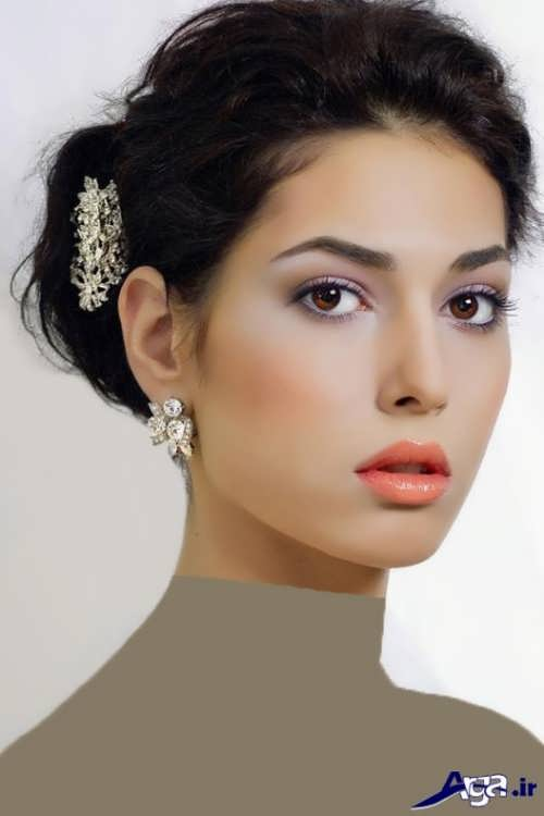مدل های آرایش جدید عروس برای انواع صورت ها