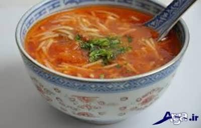 تزیین سوپ رشته