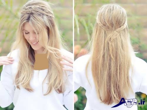 مدل موی باز دخترانه ساده