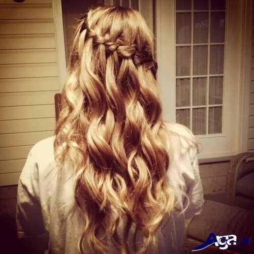 مدل موی زیبا با بافت تزیینی