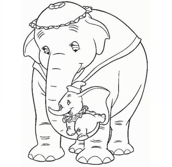 نقلشی فیل مهربان و بچه اش
