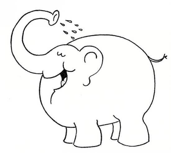 رنگ آمیز نقاشی های فیل برای کودکان