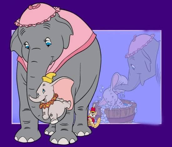 نمونه رنگ آمیزی فیل برای کودکان