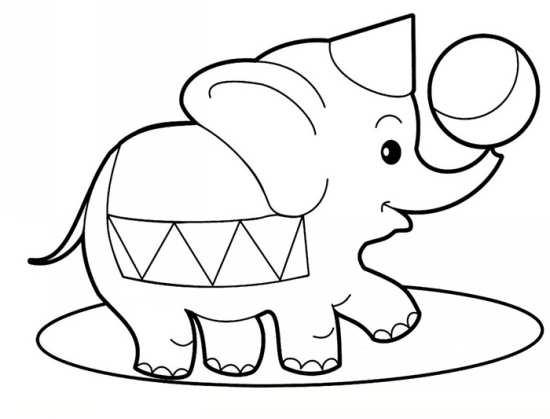 رنگ آمیزی نقاشی های زیبا از فیل برای رنگ آمیزی کودکان