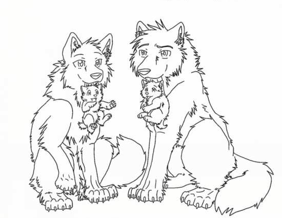 friendly wolf coloring pages - photo#19
