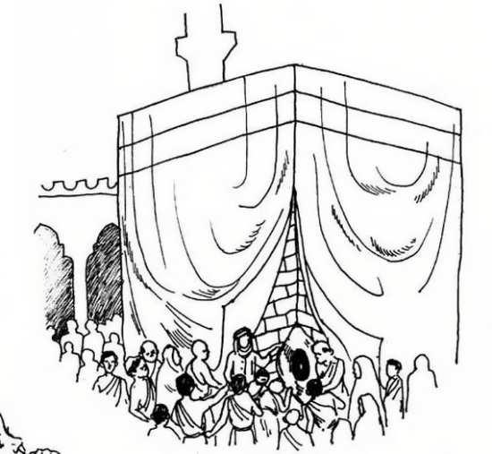نقاشی خانه کعبه در روز عید قربان
