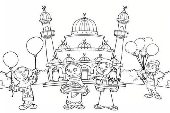 نقاشی جشن و سرور در روز عید قربان