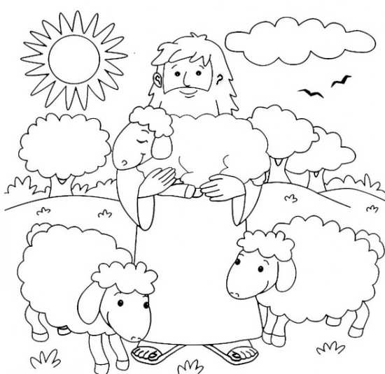 نقاشی گوسفندان زیبا و با نمک