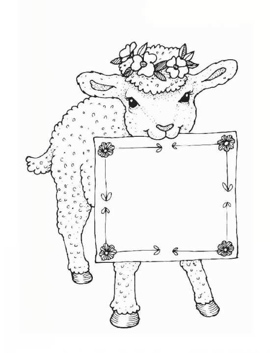 نقاشی عید قربان برای رنگ آمیزی کودکان