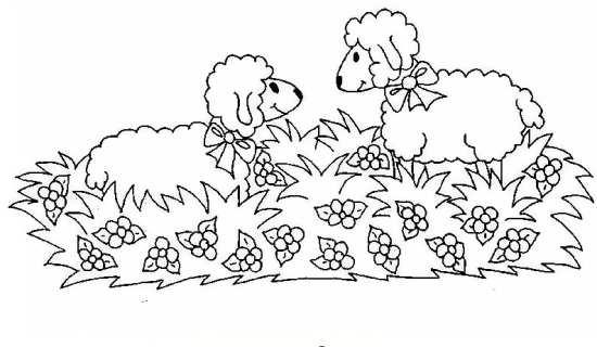 نقاشی های زیبا گوسفند در مزرعه
