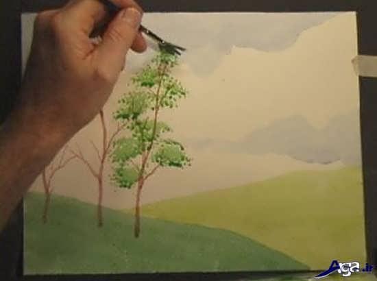 نقاشی های زیبا با آبرنگ