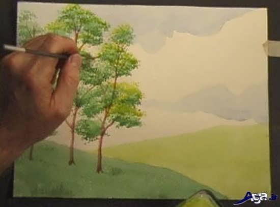 آموزش نقاشی با آبرنگ مرحله به مرحله برای مبتدی ها