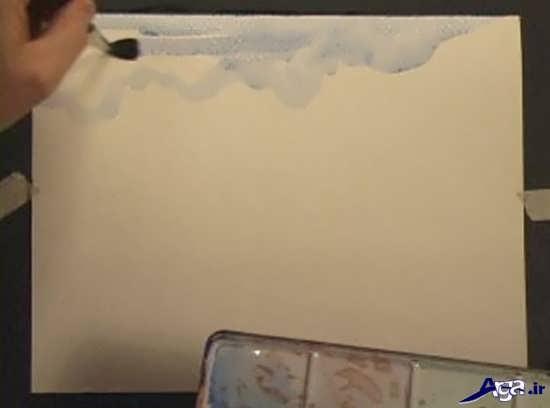 آموزش زیبای نقاشی با آبرنگ