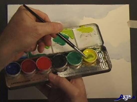 نقاشی با آبرنگ برای کودکان