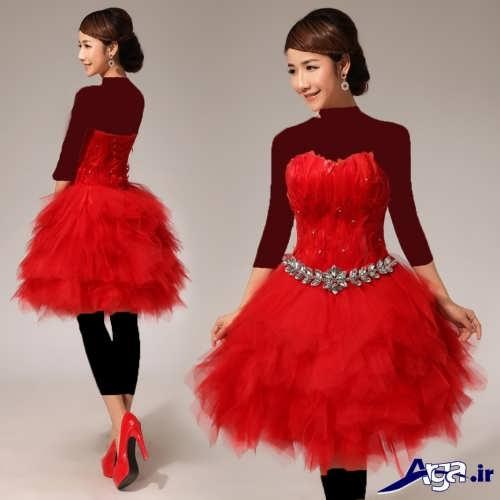 مدل لباس پرنسسی کوتاه و شیک