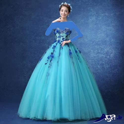 لباس پرنسسی طرح دار دخترانه