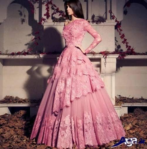 مدل لباس پرنسسی بلند