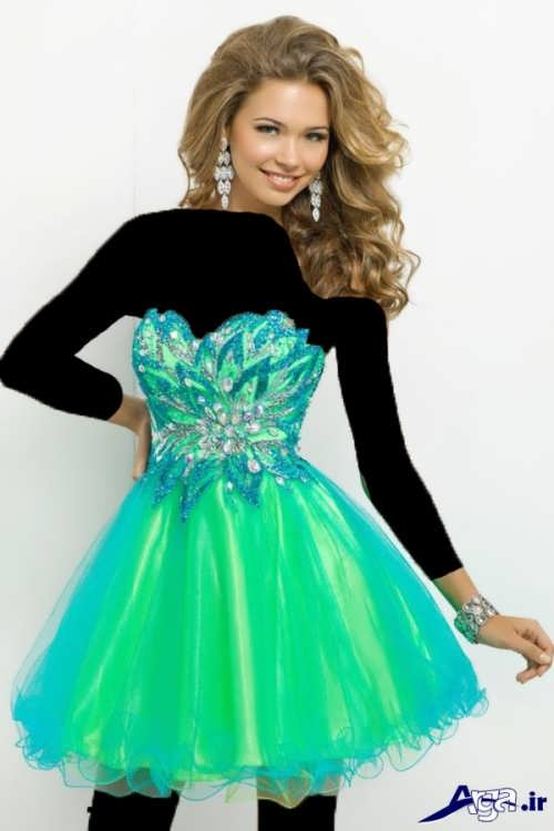 لباس پرنسسی با طرح کوتاه