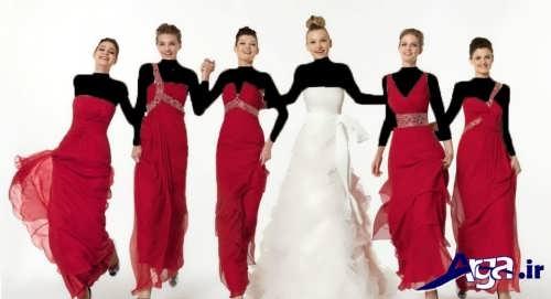 مدل لباس بلند برای ساقدوش عروس
