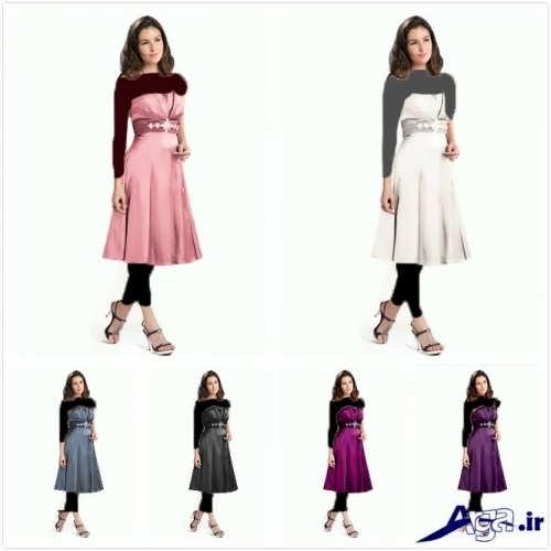 مدل لباس کوتاه برای ساقدوش عروس