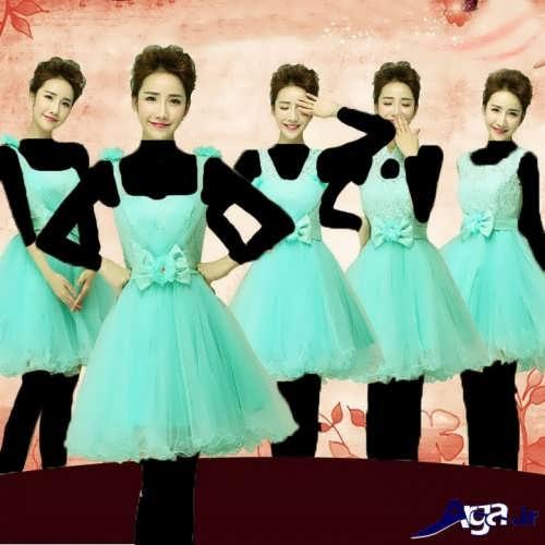 مدل لباس کره ای زیبا برای ساقدوش عروس