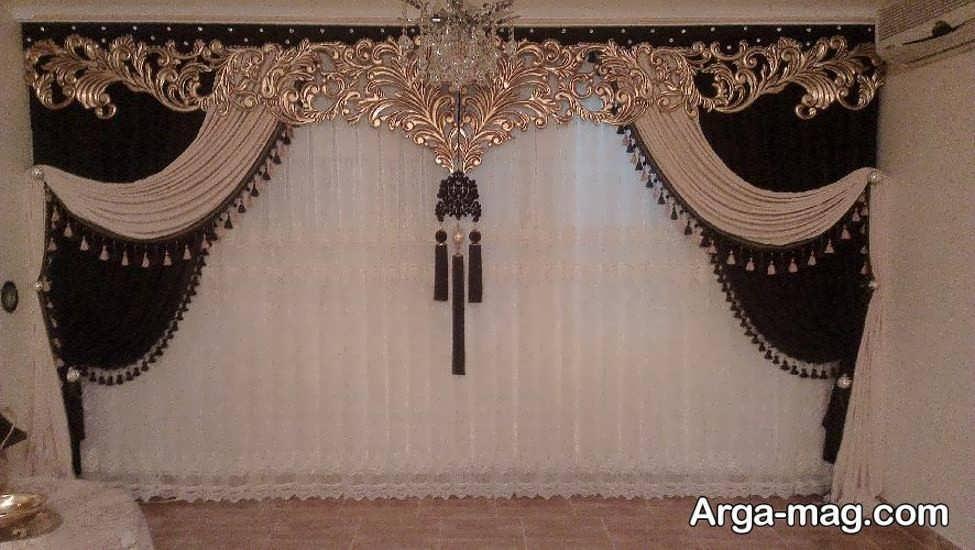 پرده سلطنتی با طراحی خاص