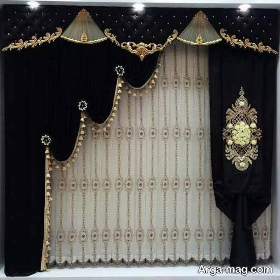 پرده سلطنتی با طرحی خاص