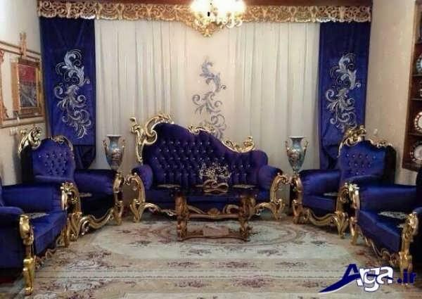 دکوراسیون سلطنتی زیبا با مدل مبل های سلطنتی