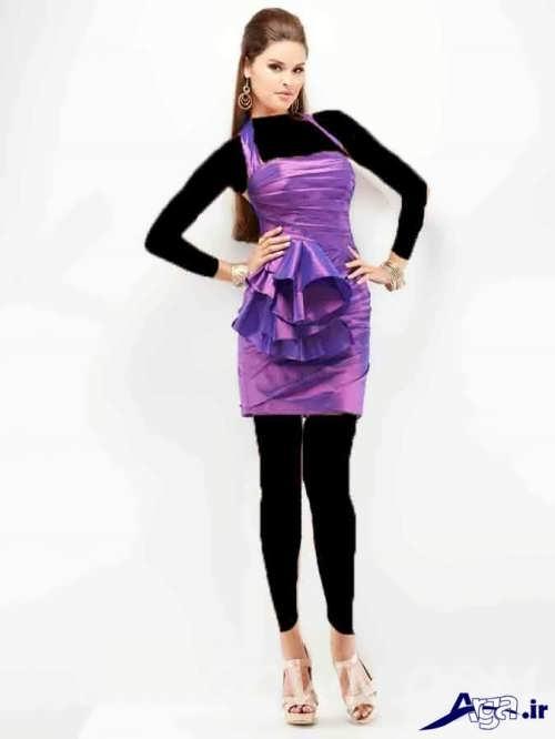 مدل لباس ساتن کوتاه دخترانه