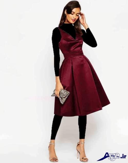 زیباترین و جدیدترین طرح های لباس مجلسی ساتن