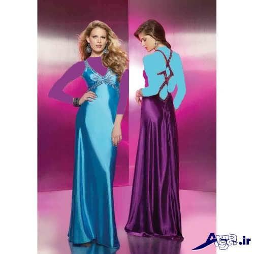 مدل لباس ساتن زنانه و دخترانه با جدیدترین طرحهای مد سال
