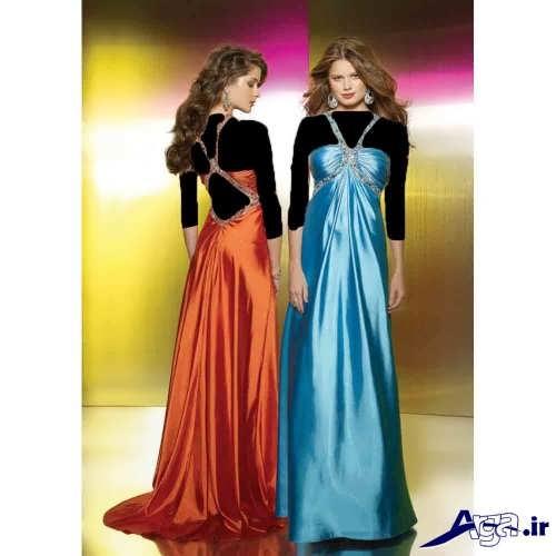 مدل های لباس مجلسی ساتن
