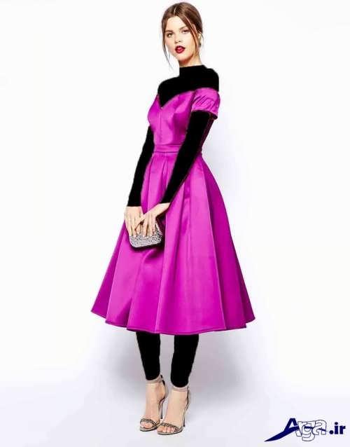 لباس مجلسی ساتن دخترانه