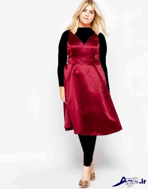 مدل لباس ساتن کوتاه