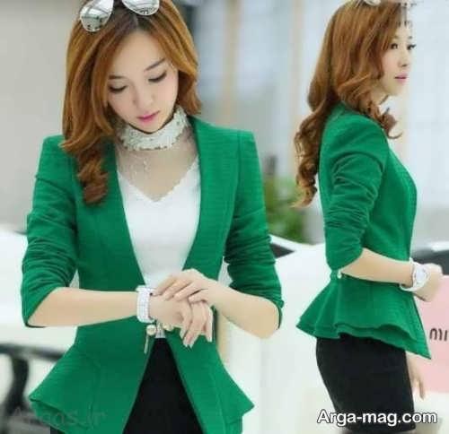مدل کت کوتاه سبز دخترانه