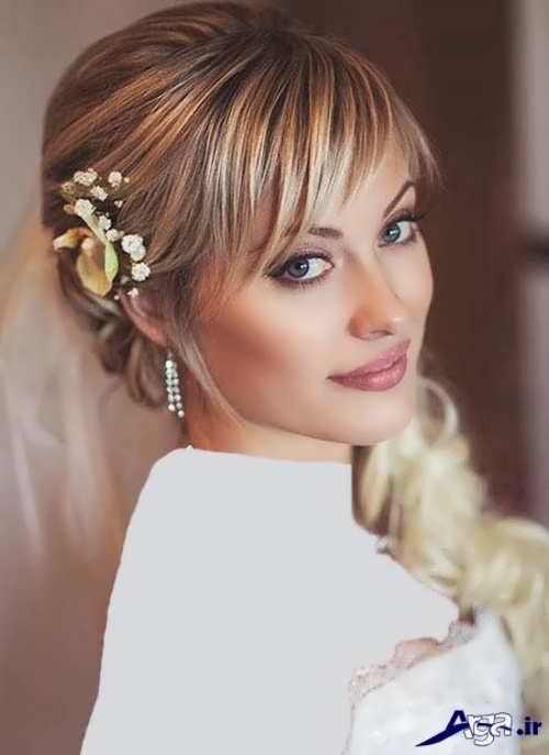 شینیون موی کوتاه عروس