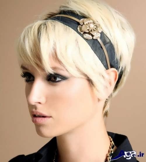 مدل شینیون برای موهای کوتاه