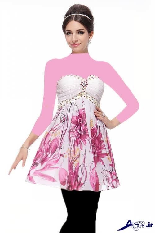 مدل لباس حریر دکلته