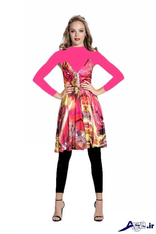 مدل لباس حریر کوتاه مجلسی