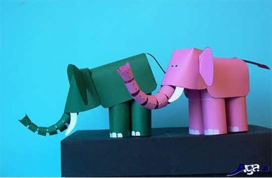 کاردستی فیل کاغذی
