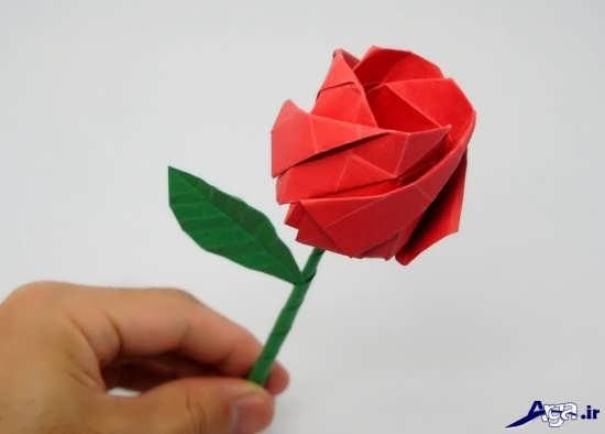 ساخت گل کاغذی ساده و زیبا