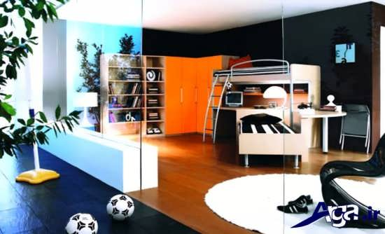 دکوراسیون داخلی اتاق خواب نوجوان پسر با دیزاین های متفاوت