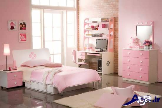 دیزاین دکوراسیون اتاق خواب نوجوان دختر با کمک ایده های خلاقانه