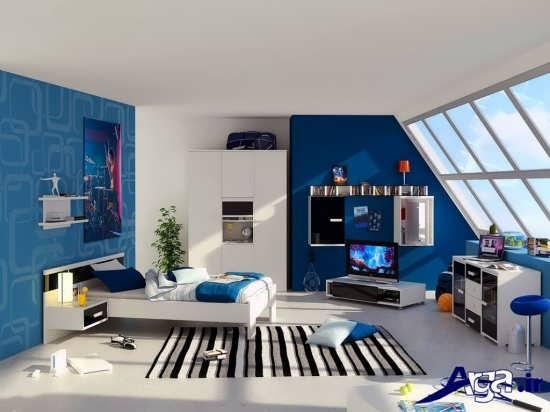 اتاق خواب پسرانه با طراحی مدرن