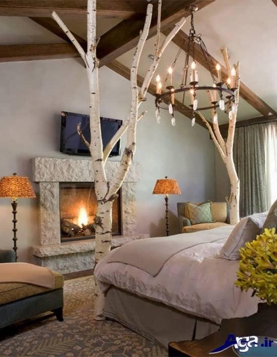 دکوراسیون زیبا و متفاوت در اتاق خواب