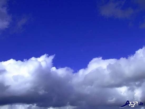 عکس های آسمان آبی و ابری