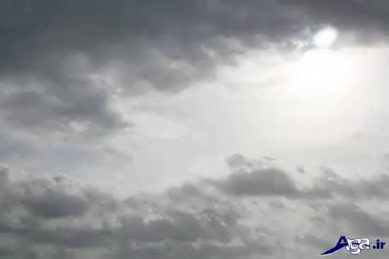 عکس آسمان ابری و کدر