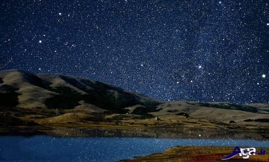 عکس آسمان زیباو پر ستاره