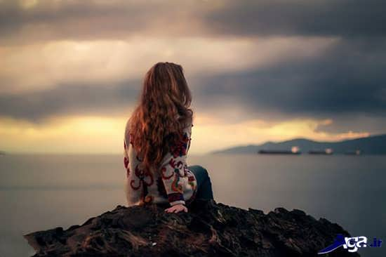 عکس های غم انگیز تنهای در کنار دریا